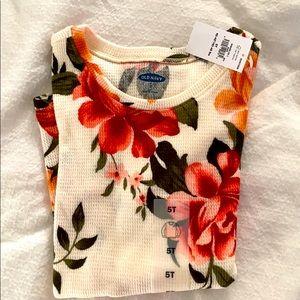 Flower thermal toddler long sleeve shirt